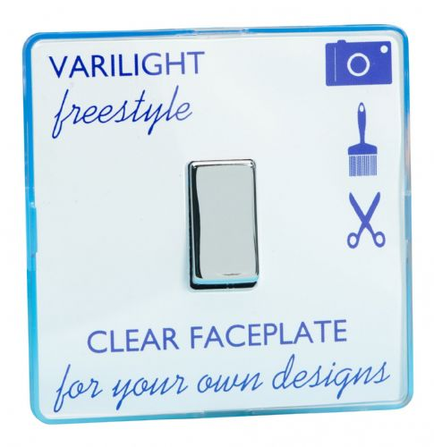 Varilight XIF20C Freestyle Clear 1 Gang 20A Double Pole Switch